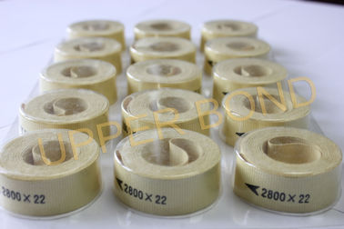 Light Yellow Cigarette Machine Parts , Kevlar Fiber Garniture Tape