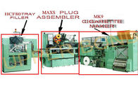 China Green High Speed Cigarette Making Machines With Filter Assembling And Tray Filler factory