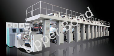 China Shaftless Drive Gravure Printing Press Machines 300m / min High Speed distributor
