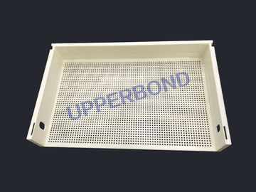 China Cigarette Making Machinery Plastic Tray Filter Rod Trays Holder Beige Color factory